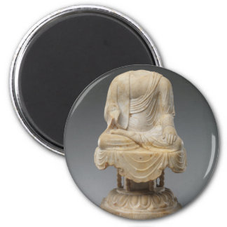Headless Buddha - Tang dynasty (618–907) 6 Cm Round Magnet