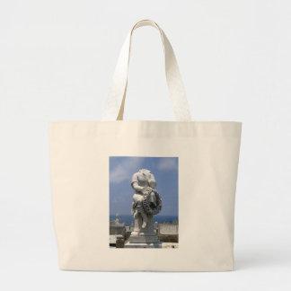 Headless Gravestone Large Tote Bag