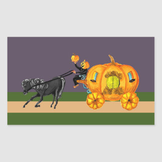 Headless Horseman Pumpkin Carriage Riding sticker