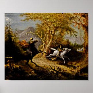 Headless Horseman Pursuing Ichabod Crane Poster