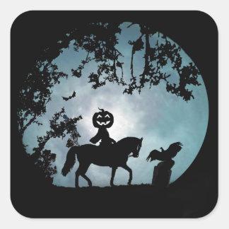Headless Horseman with Jack O Lantern Head Sticker