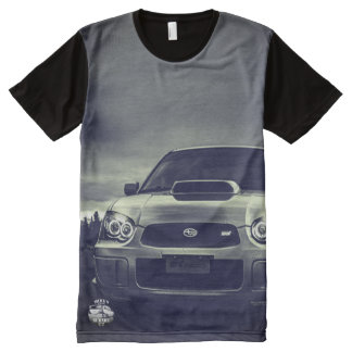 Headlights Subaru STI All-Over Print T-Shirt
