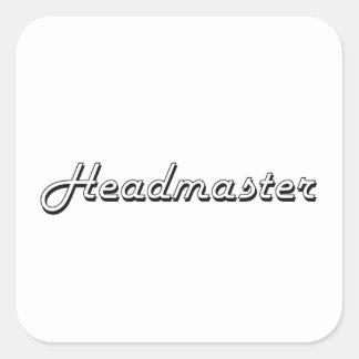 Headmaster Classic Job Design Square Sticker