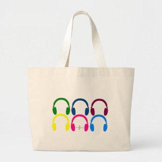 Headphone Beats ECG Large Tote Bag