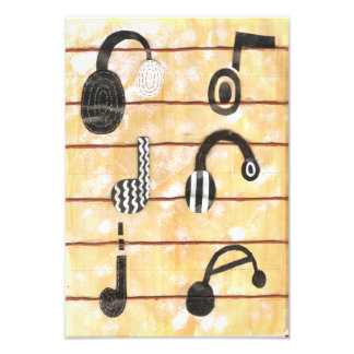 Headphone Musical Poster Photo