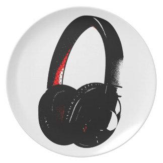 Headphone Pop Art Head Phone Party Plates