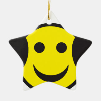 Headphone Smiley Face Rave Christmas Tree Ornaments