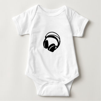 headphones baby bodysuit