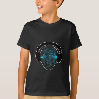 headphones blue- black tschirt T-Shirt