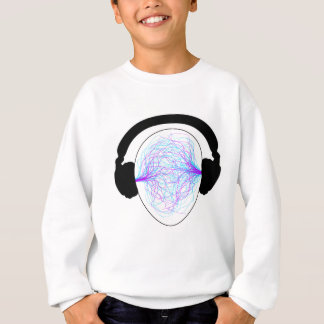 headphones blue purple- black tschirt sweatshirt