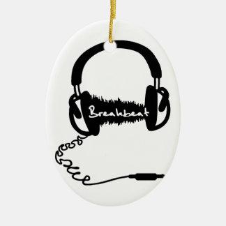 Headphones Headphones Audio Wave Motif: Breakbeat Ornaments
