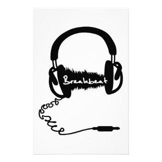 Headphones Headphones Audio Wave Motif: Breakbeat Stationery Design