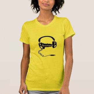 Headphones Headphones Audio Wave Motif: Breakbeat T Shirts