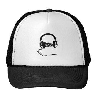 Headphones Headphones Audio Wave Motif: House Musi Mesh Hats