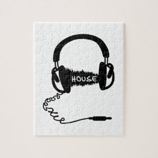 Headphones Headphones Audio Wave Motif: House Musi Jigsaw Puzzles