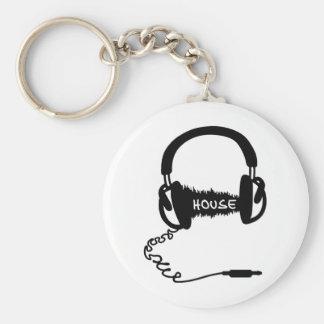 Headphones Headphones Audio Wave Motif: House Musi Key Chain