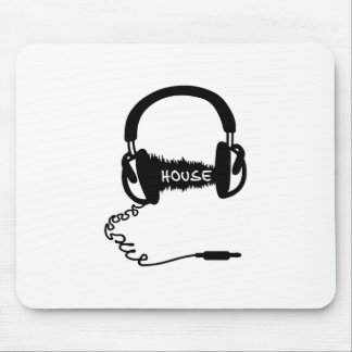 Headphones Headphones Audio Wave Motif: House Musi Mouse Pad