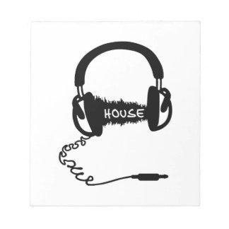 Headphones Headphones Audio Wave Motif House Musi Note Pads