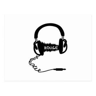 Headphones Headphones Audio Wave Motif: House Musi Postcard