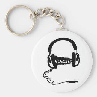 Headphones Kopfhörer Audio Wave Electro Elektro Mu Keychain