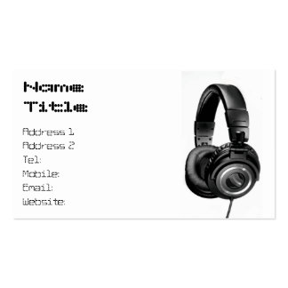Headphones on White-01 Pack Of Standard Business Cards