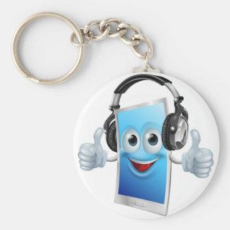 Headphones phone man key chains