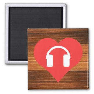 Headphones Pictogram Square Magnet