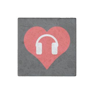 Headphones Pictogram Stone Magnet