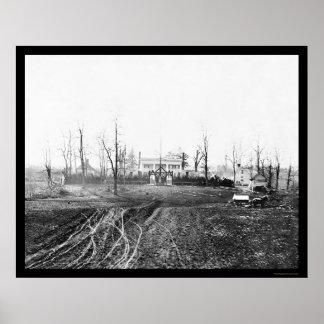 Headquarters at Brandy Station, VA 1864 Poster