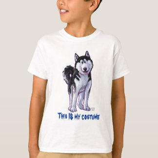 Heads and Tails Husky This is My Costume T-Shirt