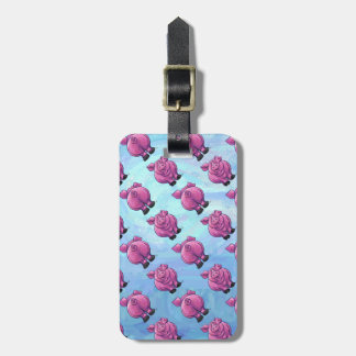 Heads and Tails Pig Pattern Luggage Tag