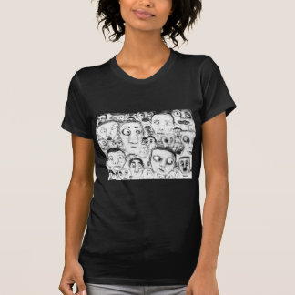 Heads Pencil Drawing - T-Shirt
