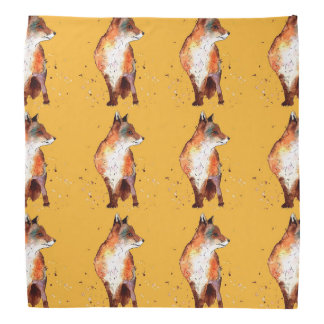 Headscarf with handpainted foxes bandana