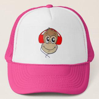 Headset monkey trucker hat