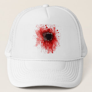 Headshot bullet hole cap