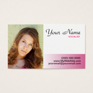 Headshot Business Cards Pink