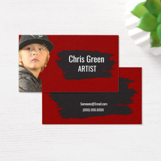 Headshot  Paint Brush Theme for artists or actors Business Card