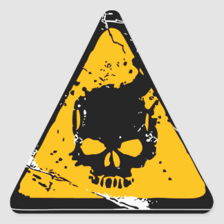 HEADSHOT Warning Triangle Sticker
