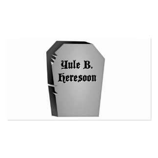 Headstone Humor Pack Of Standard Business Cards
