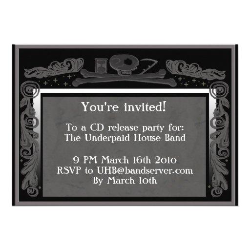 headstone party invite (grey)