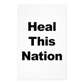 Heal This Nation Stationery