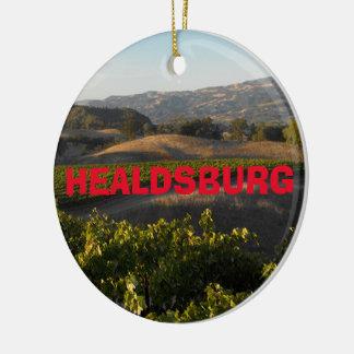 Healdsburg Wine Country Christmas Ornament