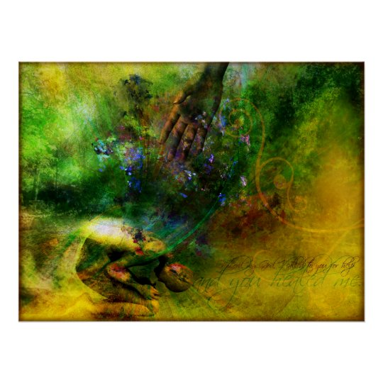 Healed (Contemporary Christian Art Poster) Poster