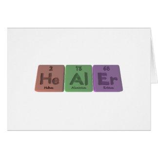Healer-He-Al-Er-Helium-Aluminium-Erbium.png Greeting Card