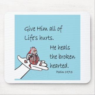 Healer of Broken Hearts Mouse Pad