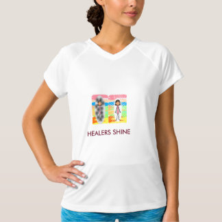 HEALERS SHINE Ladys Fitted V-Neck T-Shirt