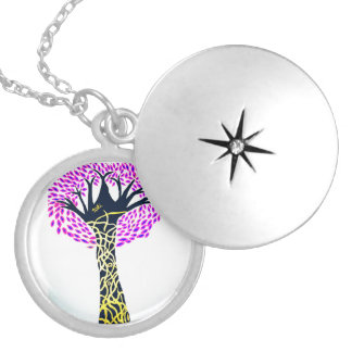 Healing Art Tree Design By Ashi Sharma Silver Plated Necklace