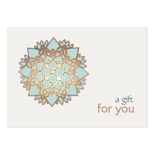 Healing Arts Lotus Gift Certificate Business Card