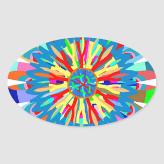 Healing Color Energy: Inspiration from SunFlower Oval Sticker