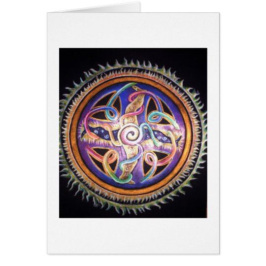 HEALING ENERGY MANDALA CARD